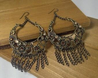 CLEARANCE SALE Boho Floral Chandeller Earrings