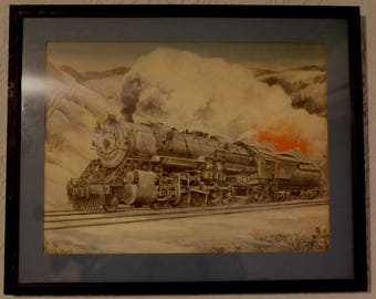 1973 Signed Framed Print of the B&O RailRoad Engine 6150