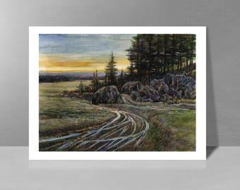 Plain quail, a night - original watercolor painting