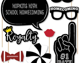 Homecoming - 20 Piece Photo Booth Props Kit - Football Themed Selfie Props - School Dance Decorations - Homecoming Decorations