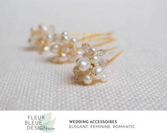 bridal hair accessories   wedding hair pins gold   gold hairpins   pearl hair pins for wedding   gold headpiece wedding   bridal hair piece