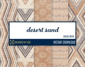 Aztec digital paper | Tribal digital paper | Indian digital paper | Rustic scrapbook paper | Autumn digital | Native American Digital paper