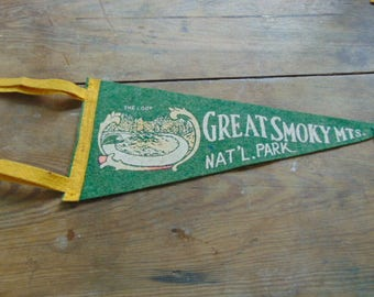Pennant, Great Smoky Mountains, National Park, Tennessee, The Loop, Small Pennant,, Collectible, Scrapbooking, Altered Art