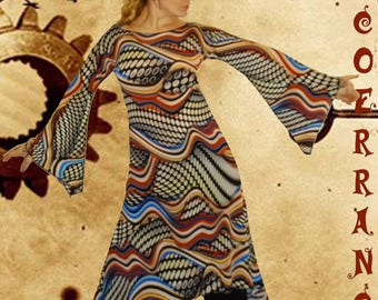 Asymmetrical dress, Bohemian, ethnic dress, tunic dress ' Zen vibes...  '