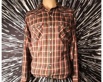 Vintage 70s 80s Dee Cee Western Pearl Snap Shirt! Sz. XL