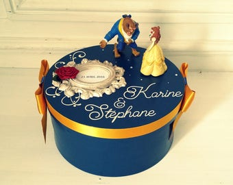 Urn fairy tale of fairy - blue and gold - Prince and Princess - the moment C