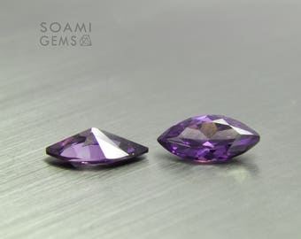 Loose Cubic zirconia amethyst, 3x6, 4x8, 5x10, 6x12, 7x14 mm marquise cut  purple cubic zirconia faceted gem
