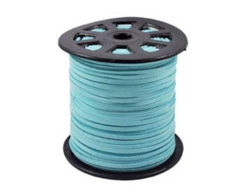 Reel suede 100 m. Clear turquoise for making