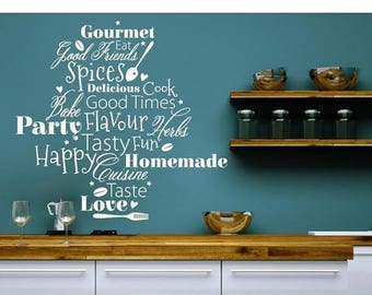 20% OFF Summer Sale Kitchen Words wall decal, sticker, mural, vinyl wall art