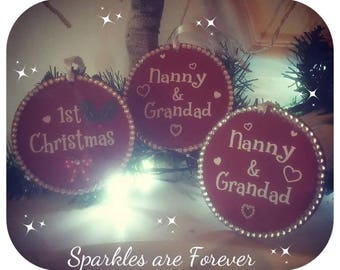 Personalised Christmas Tree Decorations Baubles