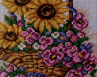 Needlepoint tapestry kit, FLOWERS, SUNFLOWERS, 18 x 24 cm, AR5036