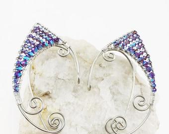 Elven Ear Cuff - Elf Ears - Fairy Ears - Elven Ears - Fairy Ear Cuff - Fairy Costume - Elf Costume - Wire Ear Cuffs - Elven Jewelry