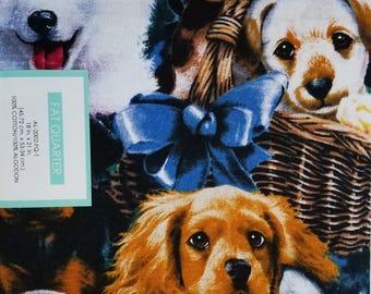 "Fabric Quarters Cotton Fabric 18""- Dogs"