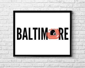"""Baltimore 18"""" x 24"""" Poster"""