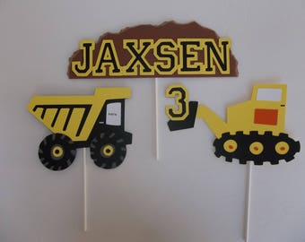 Construction Cake toppers, Construction theme toppers