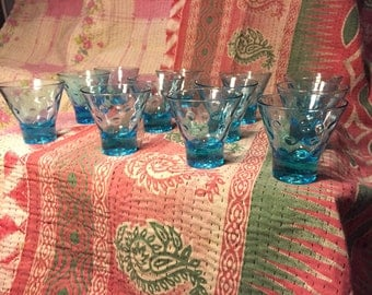 Hazel Atlas Capri Dots Cordial Glasses set of 12