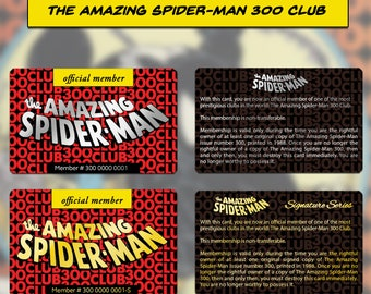 The Amazing Spider-Man 300 Club Official Member Card (Please Read Description)