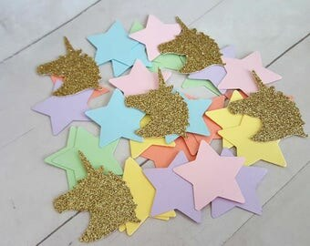 Pastel Rainbow Unicorn Confetti, Pastel Rainbow Unicorn Birthday, Pastel Rainbow Unicorn Baby Shower, Pastel Rainbow Unicorn First Birthday