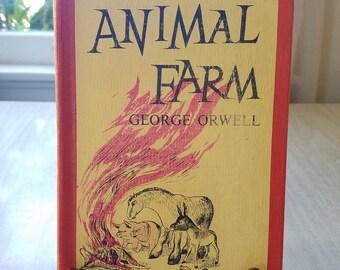 """Vintage Book/Novel/Story """"Animal Farm"""" George Orwell 1954"""