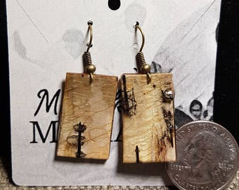 Alaska Birch Bark Earrings