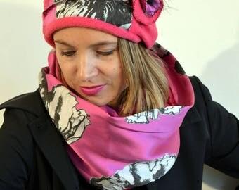 pink headband with flowers