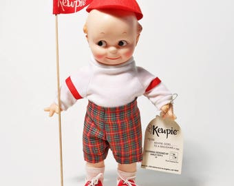 "Vtg Kewpie Doll by Rose O'Neill - Jesco Goes to the Ball Game, 12"" 1983"
