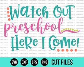 Back to School SVG - School SVG - End of Summer Svg - Preschool Svg - Cut Files - Cricut Files - Silhouette Files - Svg Designs
