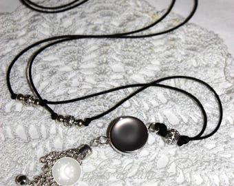 Bola Bell beads black grossesseTintement diam touched Velvet