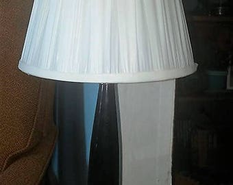 Vintage Glass and Marble Vanity Lamp with Shade