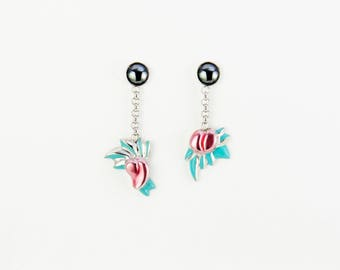Flowers ardent 1 earring pair