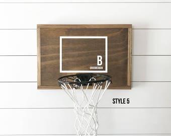 Custom basketball goal, groomsmen gift, rustic basketball hoop, mini basketball hoop