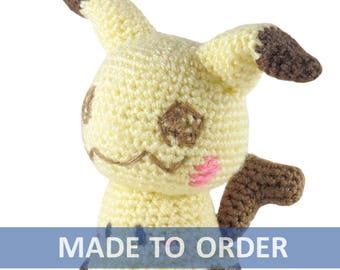 MADE TO ORDER Mimikyu Amigurumi Crochet Plush