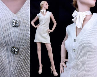 Vintage dress, vintage 60s dress, vintage Mini dress, Dresses for women, vintage clothing L