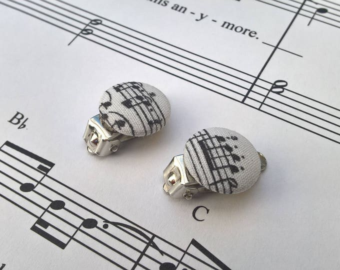 Musical Fabric Earrings