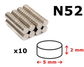 5mm magnet 5x2mm N52 magnets powerful neodymium coin - 5mm magnet
