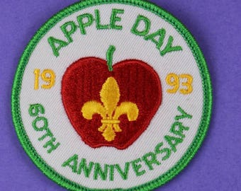 Apple Day 1993 60th Anniversary Boy Scouts Vintage Patch