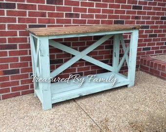 Solid Wood Entry way-Hall Table-Sofa Table