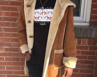 suède jacket coat XL