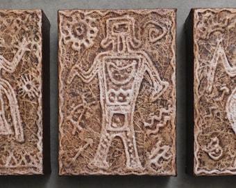 Petroglyph Shaman Trio