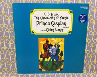 Prince Caspian by CS Lewis Vinyl Record Album LP read by Claire Bloom Caedmon Chronicles of Narnia