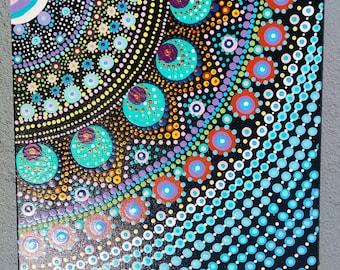 Hand painted mandala dots