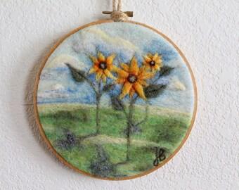 Sunflower Wall Hanging, Sunflower Wall Art, Sunflower Decor, Sunflower Wall  Decor, Needle Part 91
