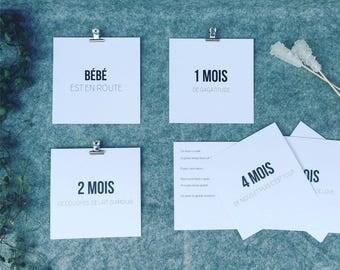 Baby steps - minimalist cards