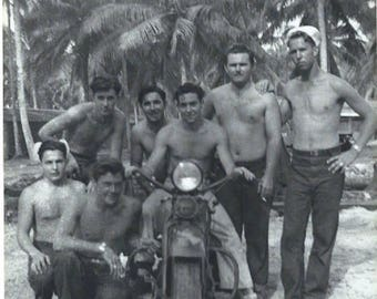 WWII sailors south pacific on harley davidson 1940s photo download