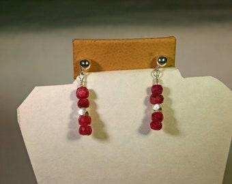 Ruby Earrings # 977
