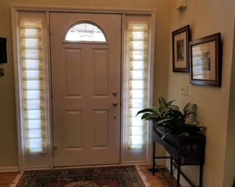 SOFT FOLDED SHADE For Side Light Front Door (fabric Included)