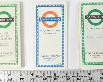 London Transport Public Transit Rout Maps Diagram Vintage 1960s