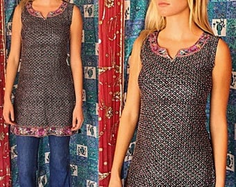 India Sequin Tunic 80s Beaded Party Tunic India Beaded Glam Tunic