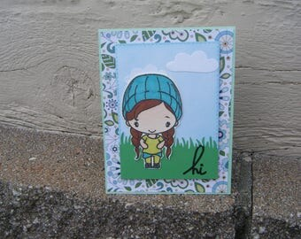 Friendship Card, Just Because Card, Girls Birthday Card, Springtime Cards, Birthday Card, Thank You Card, Hi, Handmade Cards, Blank Cards