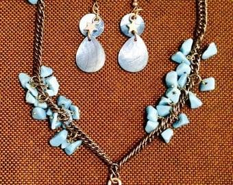 The Iliad blue necklace set